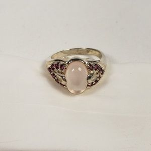 Jewelry - Sterling Silver and Pink Stone Accents Ring